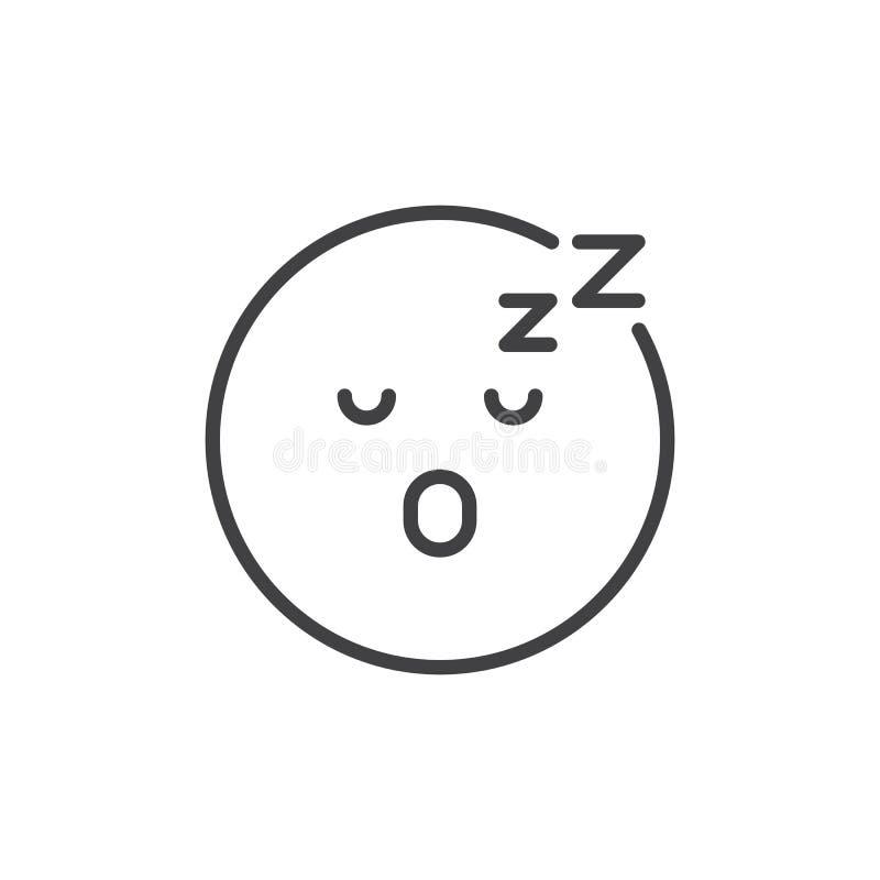 Уснувший значок плана emoji стороны бесплатная иллюстрация