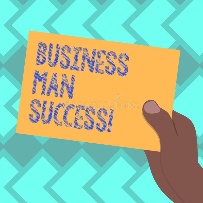 Успех бизнесмена показа знака текста Схематическое фото кто-то достигает чего было запланировано достигнуть вычерченного Hu бесплатная иллюстрация