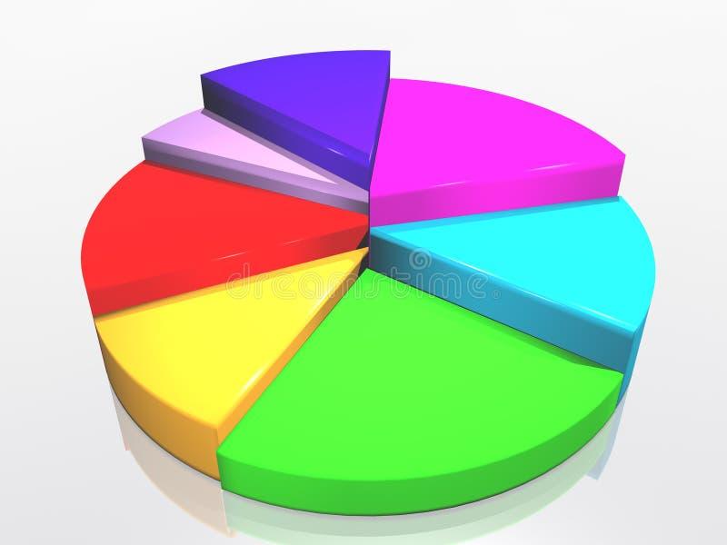 успех диаграммы иллюстрация вектора