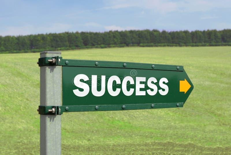 успех знака стоковое изображение