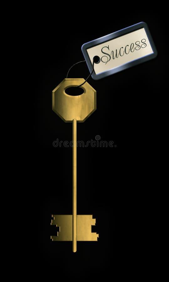 успех золотистого ключа иллюстрация вектора