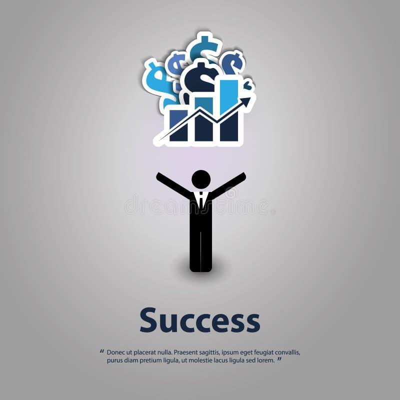 Успех - конструктивная схема графического дизайна иллюстрация вектора