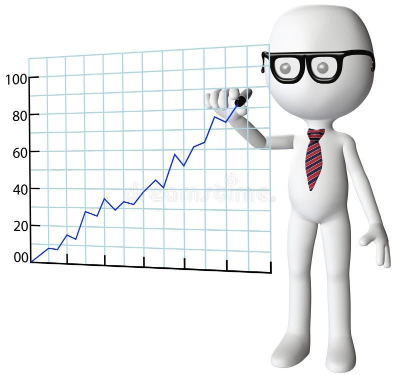 успех менеджера роста чертежа компании диаграммы бесплатная иллюстрация