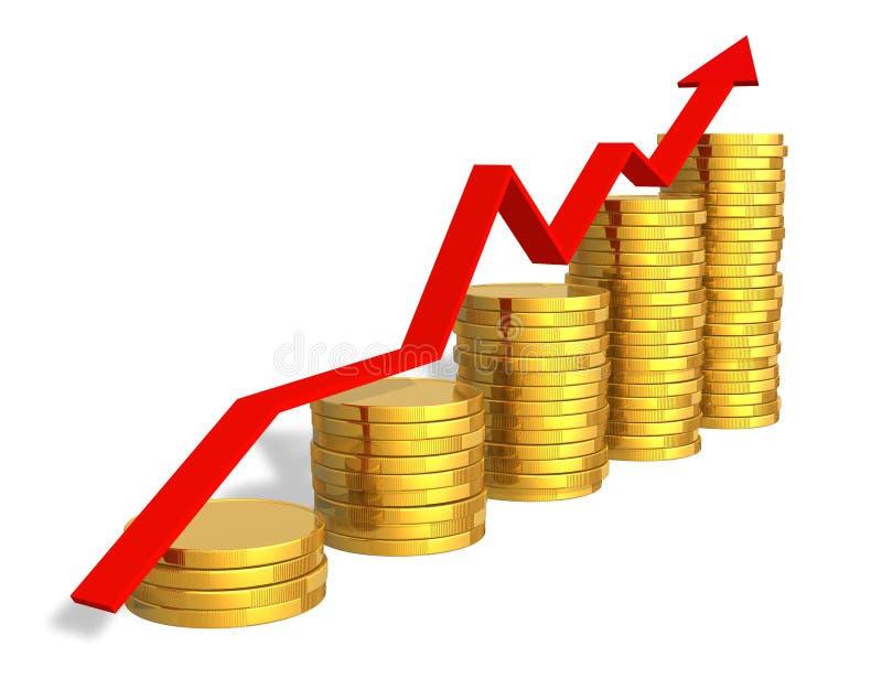 успех принципиальной схемы финансовохозяйственный иллюстрация штока