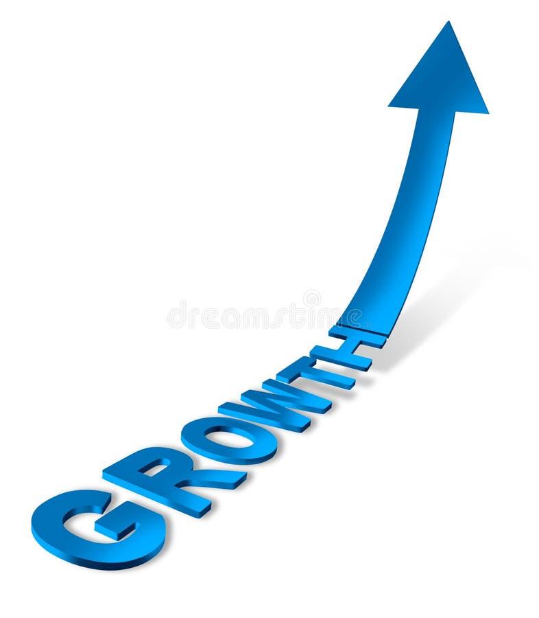 успех роста направления иллюстрация вектора