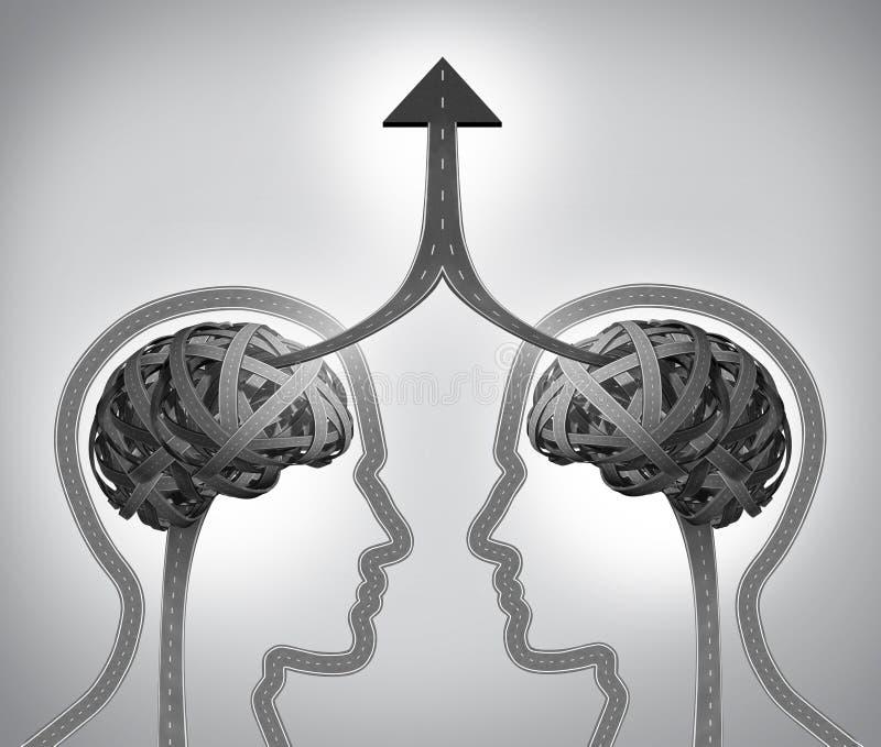 Успех союзничества иллюстрация вектора