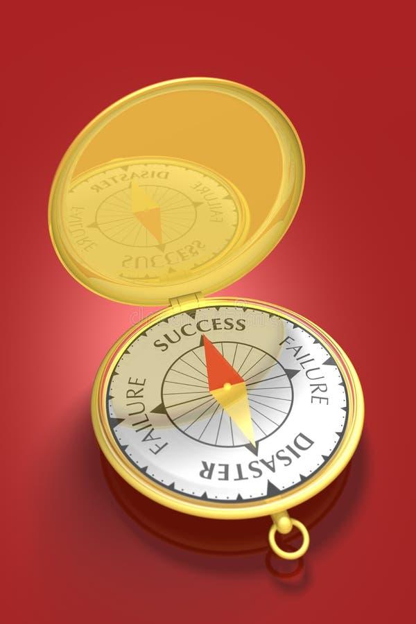 успех 2 компасов иллюстрация штока