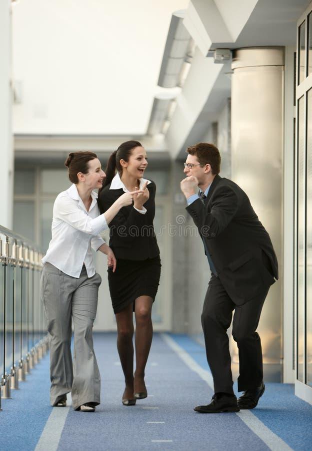 успех 3 людей офиса группы стоковое фото
