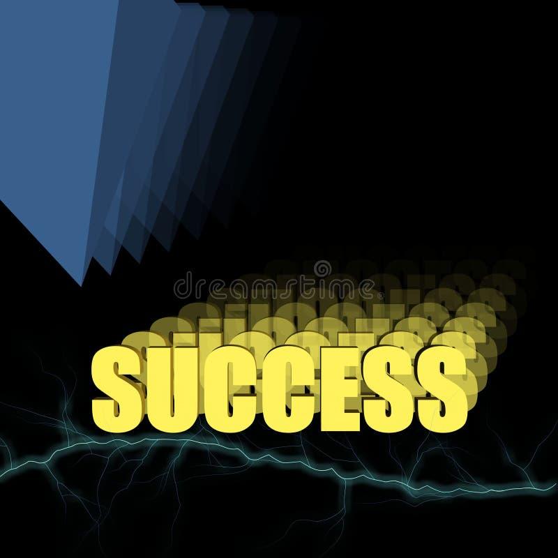 успех 3d иллюстрация штока