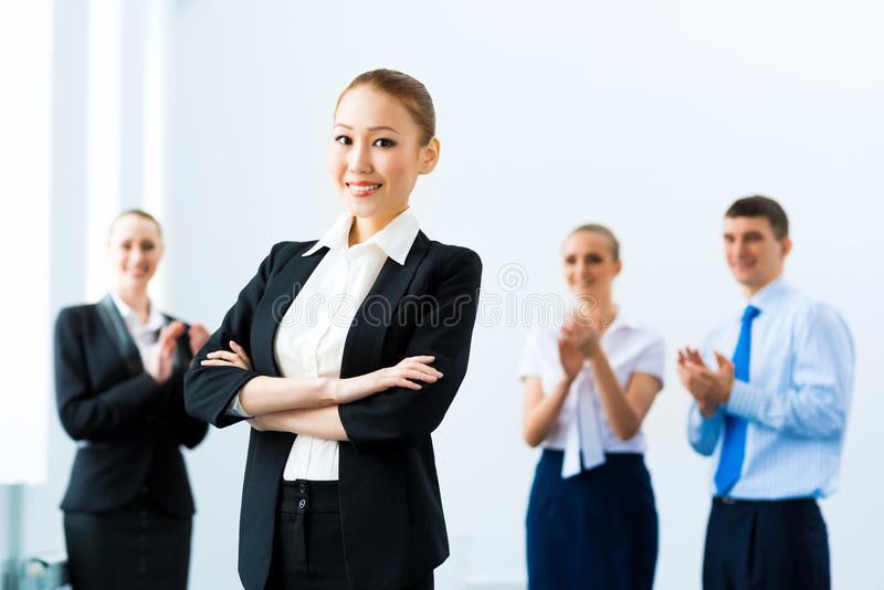 Успешная бизнес-леди стоковое фото