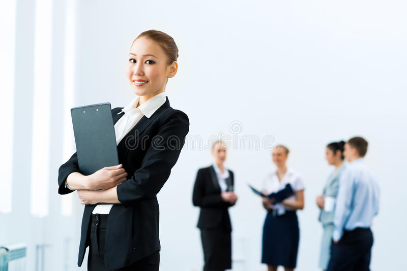 Успешная бизнес-леди стоковые изображения