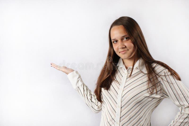 Успешная девушка дела стоковое изображение