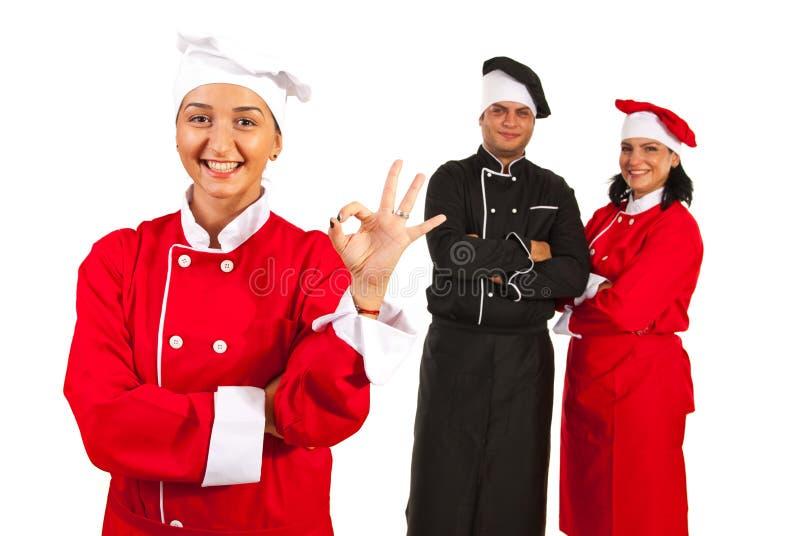 Успешная команда шеф-поваров стоковое изображение