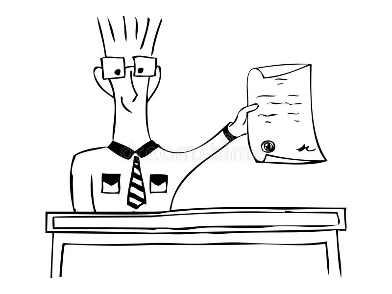 Успешно подписанный контракт Чертеж внезапный тип эскиза света компьтер-книжки также вектор иллюстрации притяжки corel бесплатная иллюстрация
