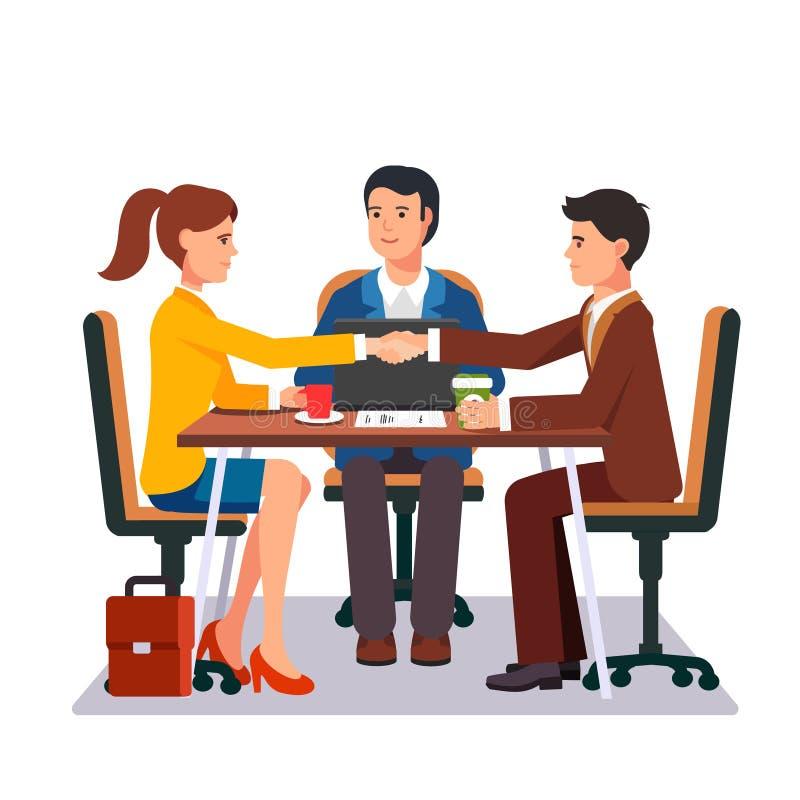 Успешные деловые переговоры бесплатная иллюстрация