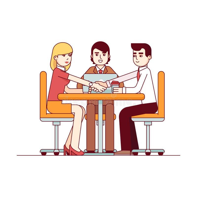 Успешные деловые переговоры иллюстрация штока