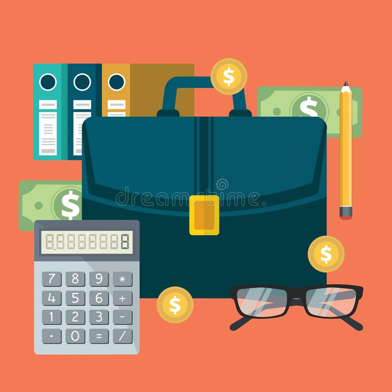 Успешные финансовые отчет о и бухгалтерия бизнес-плана иллюстрация вектора