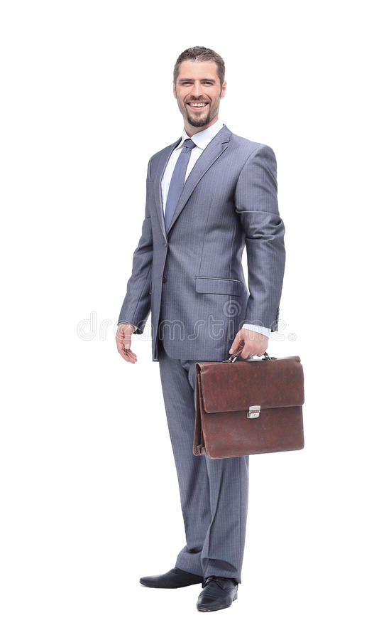 Download Успешный бизнесмен на белой предпосылке Стоковое Фото - изображение насчитывающей холодно, компьютер: 81809548