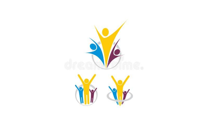 Успешный вектор логотипа здоровья иллюстрация вектора