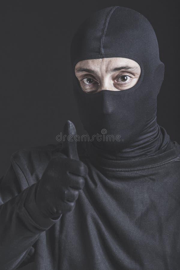 Успешный уголовный портрет стоковая фотография rf