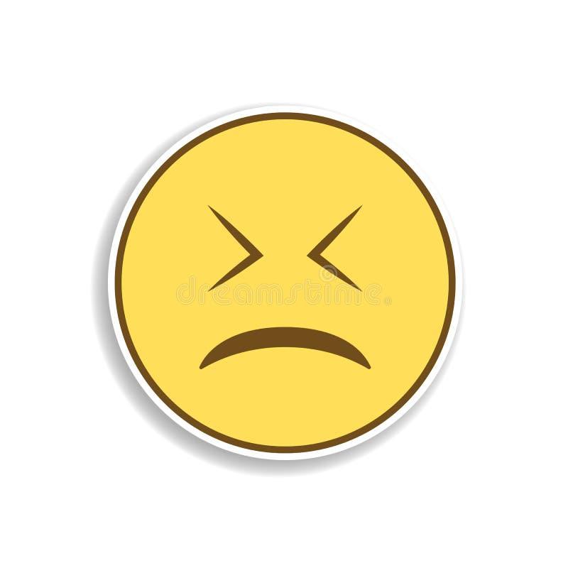 уставший покрашенный значок стикера emoji Элемент emoji для мобильной иллюстрации приложений концепции и сети бесплатная иллюстрация