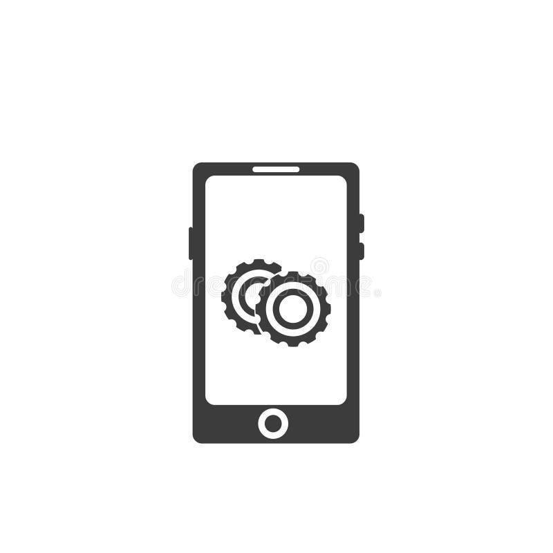 Устанавливать вектор значка на экране смартфона бесплатная иллюстрация