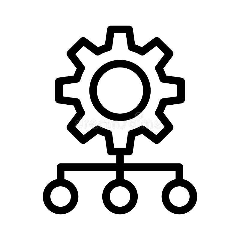 Устанавливающ тонкую линию значок вектора иллюстрация штока
