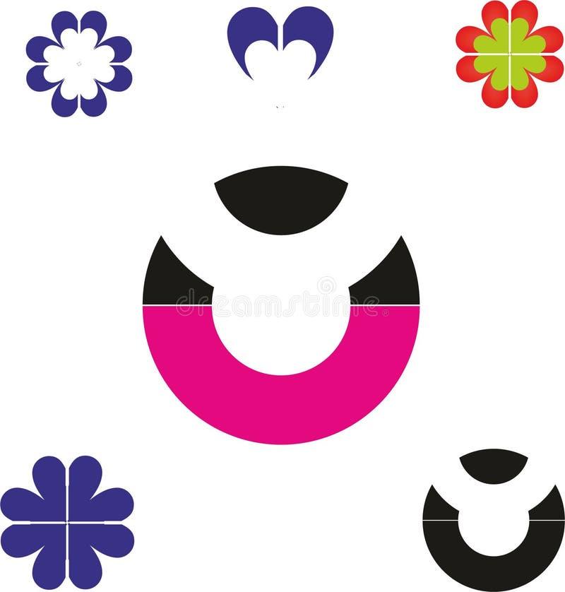 Установите абстрактного красочного логотипа для сети бесплатная иллюстрация