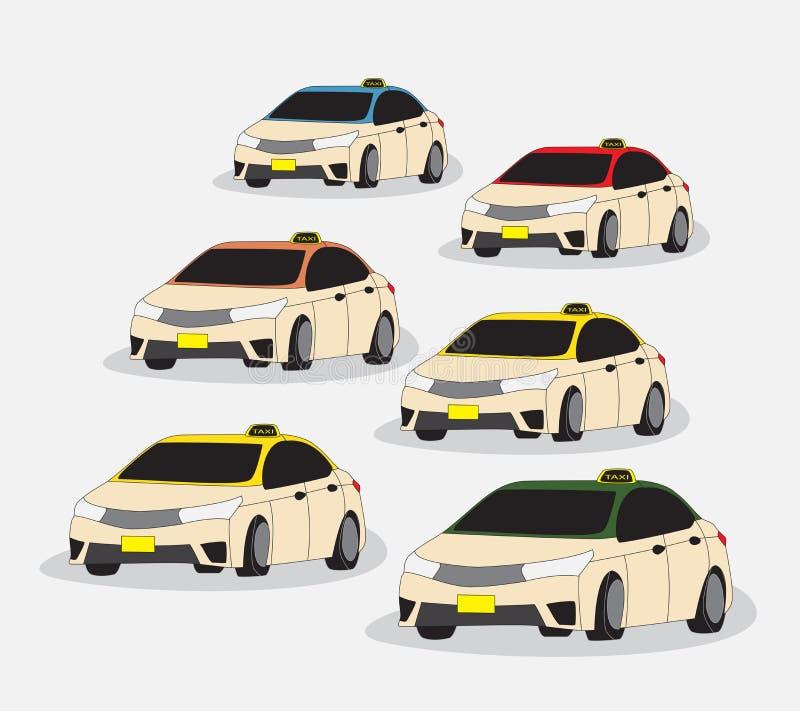 Установите автомобиля метра такси Дубай иллюстрация вектора