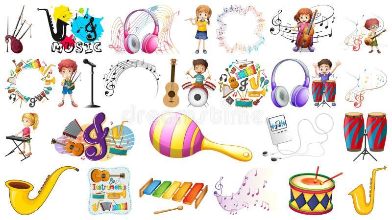 Установите аппаратур музыки бесплатная иллюстрация