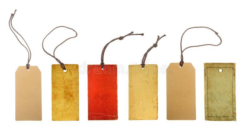 Установите бумажные ценники стоковое изображение