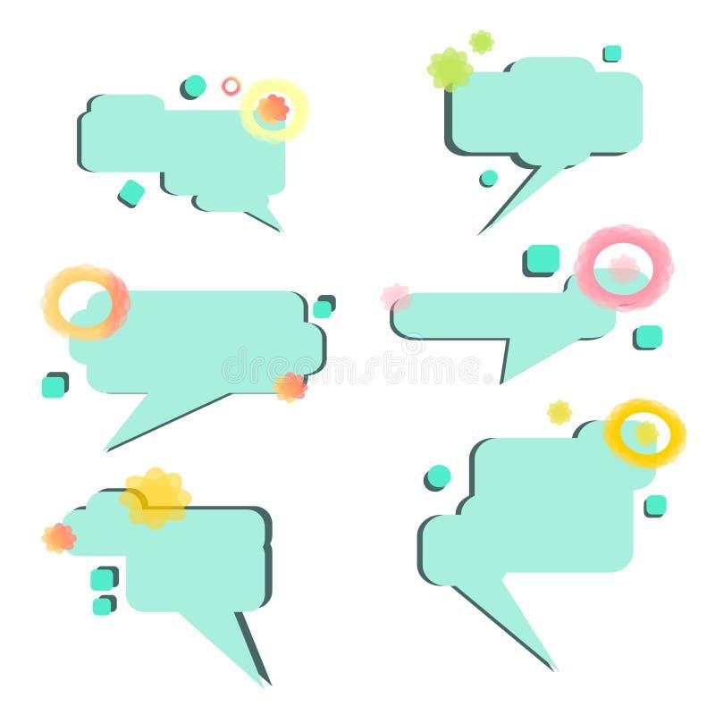 Установите вектора пузырей речи нарисованный вручную - вектор иллюстрация вектора