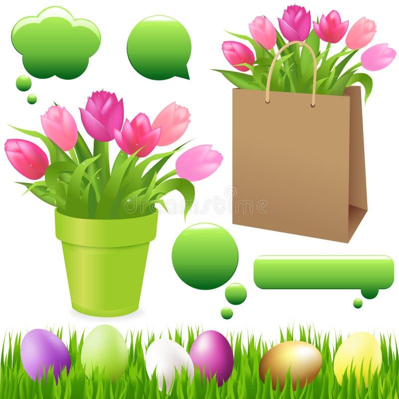 установите вектор весны бесплатная иллюстрация