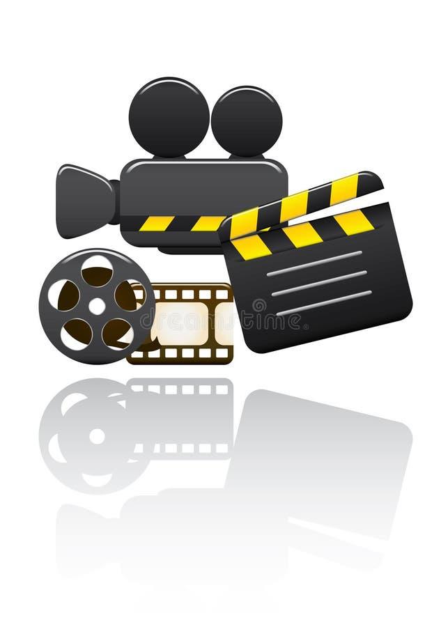 установите вектор видео- иллюстрация штока