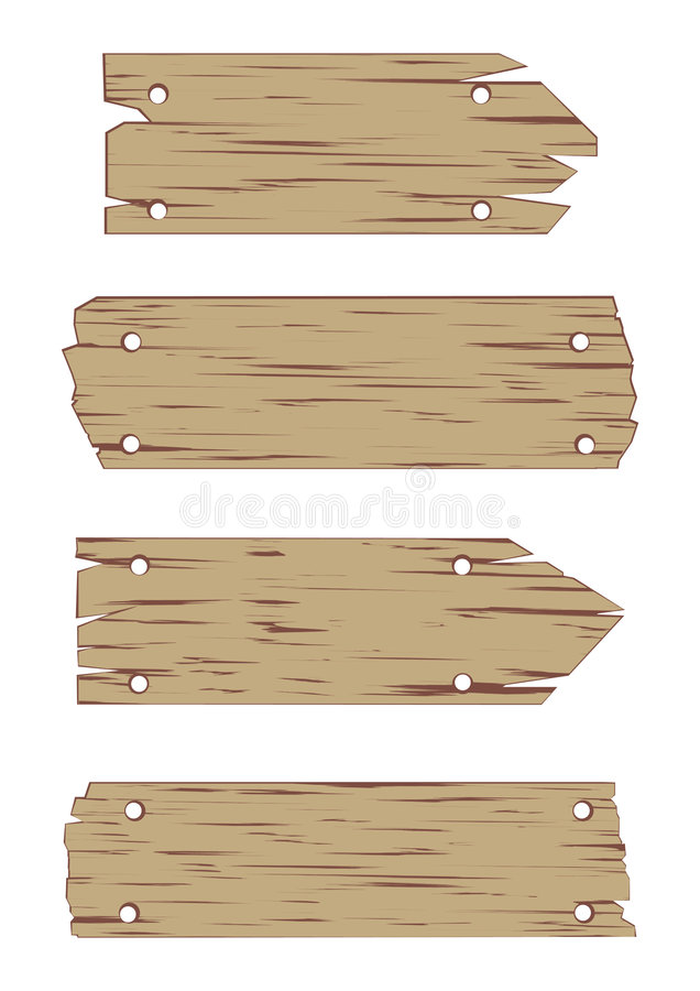 установите вектор знака деревянным бесплатная иллюстрация