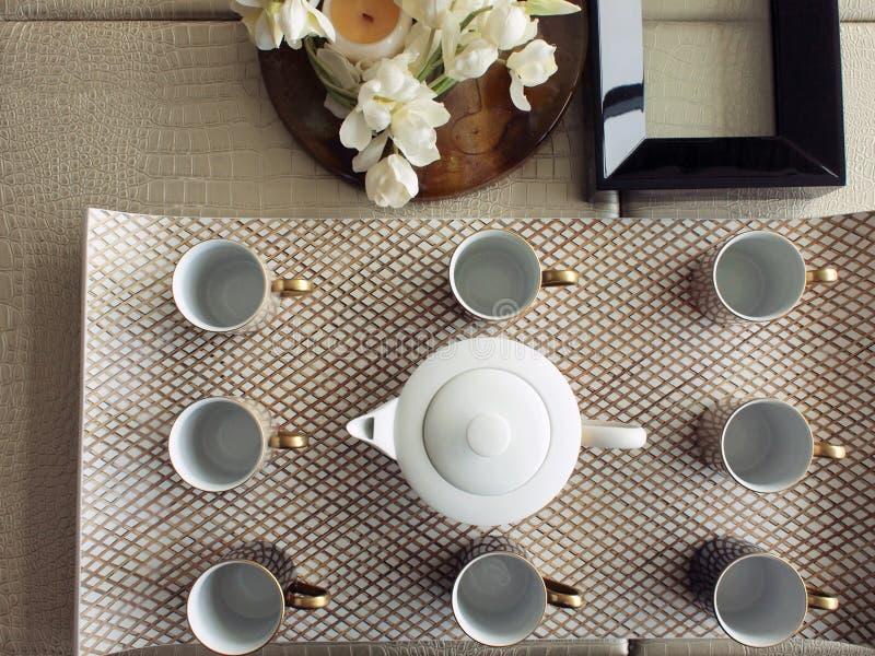 установите визитеров чая стоковое фото rf