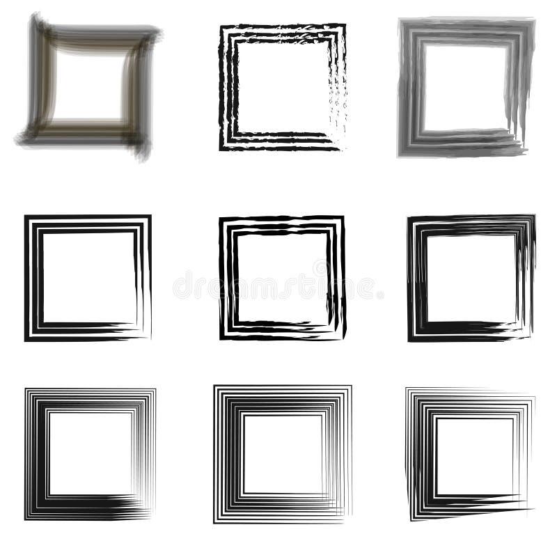 Установите винтажные рамки для фото бесплатная иллюстрация