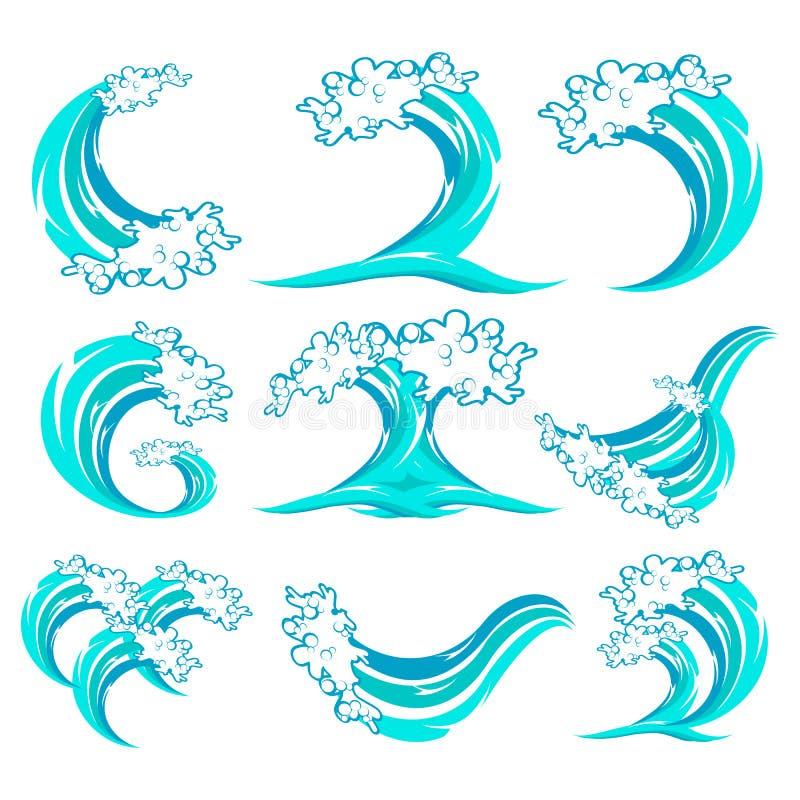 установите волну символа иллюстрация штока