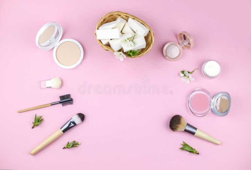 Установите декоративных косметик для составьте стоковая фотография rf