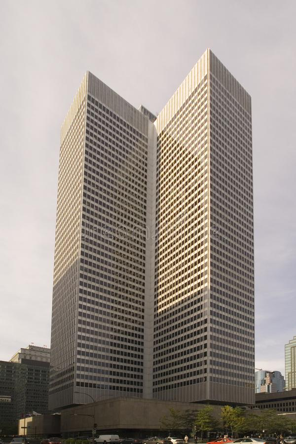 Установите детали Ville-Мари архитектурноакустические современного skyscrape стоковое изображение