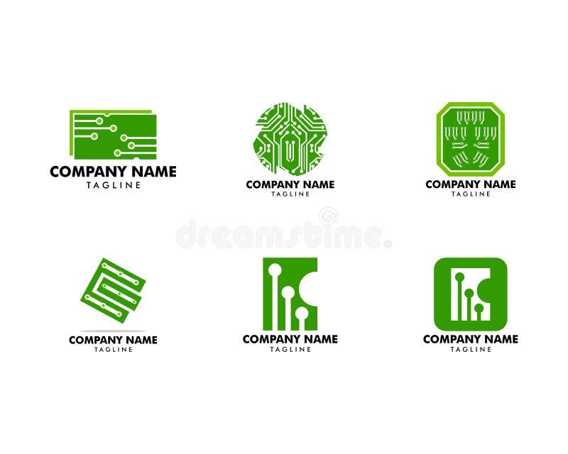 Установите дизайна значка иллюстрации вектора шаблона логотипа цепи иллюстрация вектора