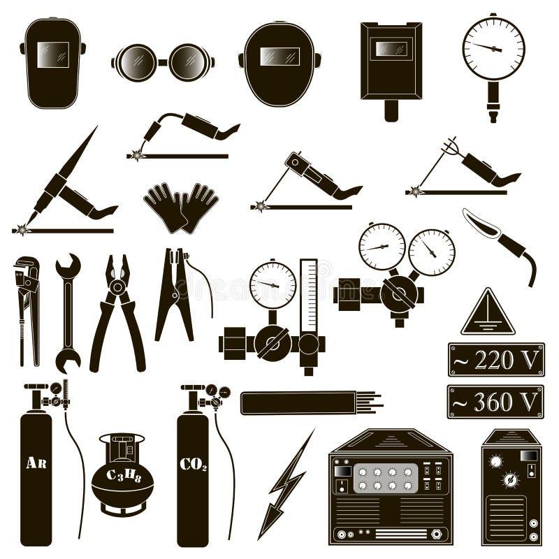 Установите детали заварки стоковые изображения