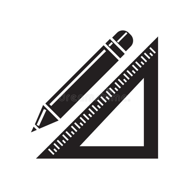 Установите знак и символ вектора значка квадрата изолированными на белом backgro иллюстрация штока