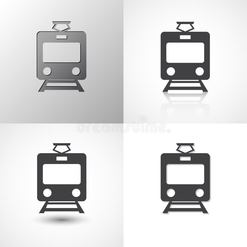 Установите значков поезда для любого случая бесплатная иллюстрация