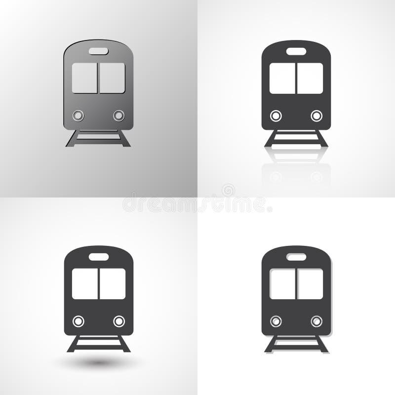 Установите значков поезда для любого случая иллюстрация вектора