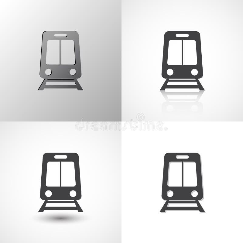 Установите значков поезда для любого случая иллюстрация штока