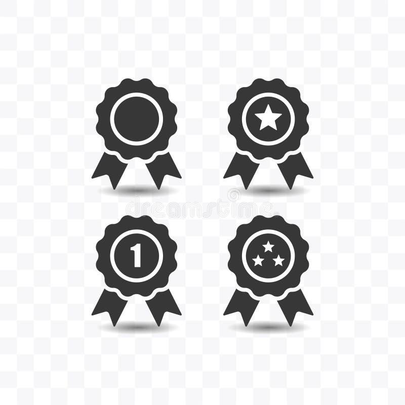 Установите иллюстрации вектора стиля значка награды простой плоской иллюстрация штока