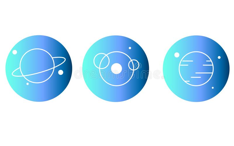 Установите иллюстрации космоса иллюстрация вектора