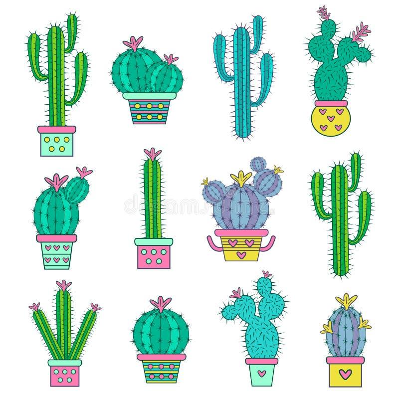 картинки кактусы нарисованные
