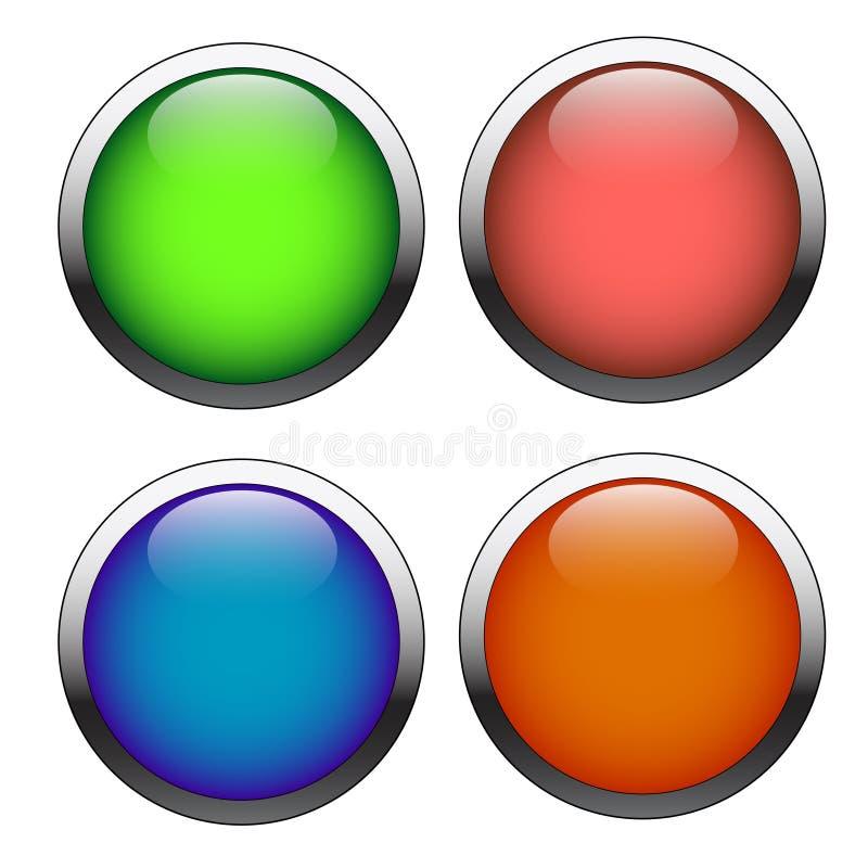 Установите кнопки иллюстрация штока